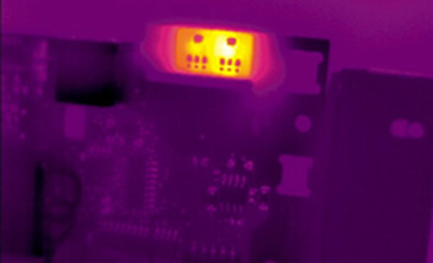 Thermographie infrarouge application circuits imprimés