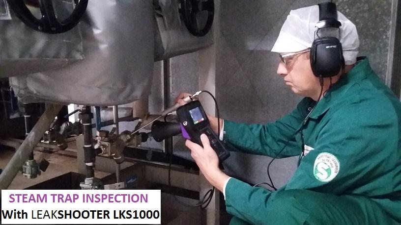 Installation with thermodynamic Steam Trap (under 9 BAR steam pressure)